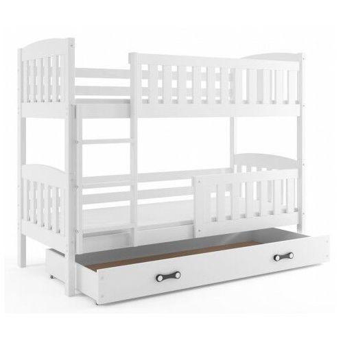 Białe piętrowe łóżko dla dzieci 90x200 - Elize 3X