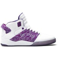 buty SUPRA - Skytop Iii White/Purple (WPU), kolor biały