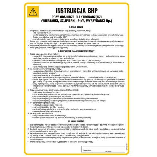 Top design Instrukcja bhp przy obsłudze elektronarzędzi (wiertarki)