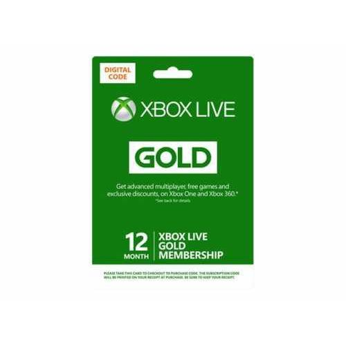 Microsoft Ms esd xbox live 12 month gold ww online esd r15 (0885370941241)