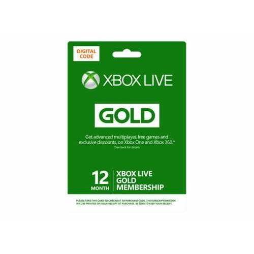 OKAZJA - Microsoft Ms esd xbox live 12 month gold ww online esd r15 (0885370941241)