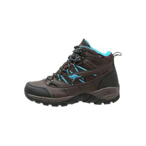 KangaROOS KOUTDOOR 8090 Buty trekkingowe dark brown/smaragd z kategorii trekking i nordic walking