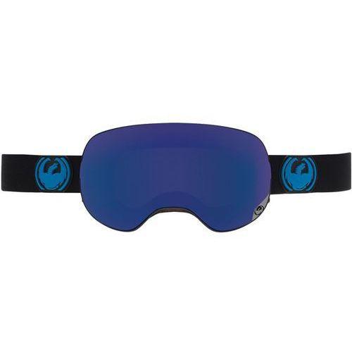 Dragon Gogle snowboardowe  - x2 - jet / dark smoke blue + yellow red ion (081)