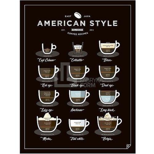 Plakat American Style Coffee 30 x 40 cm, ascen3040