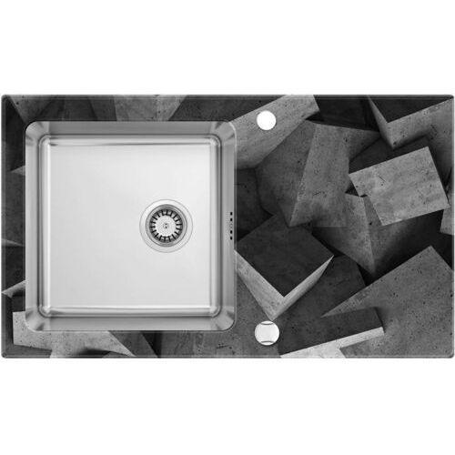 Zlewozmywak DEANTE PALLAS ZSP0B2C SATYNA (krawędź DIAMENT), kolor stalowy