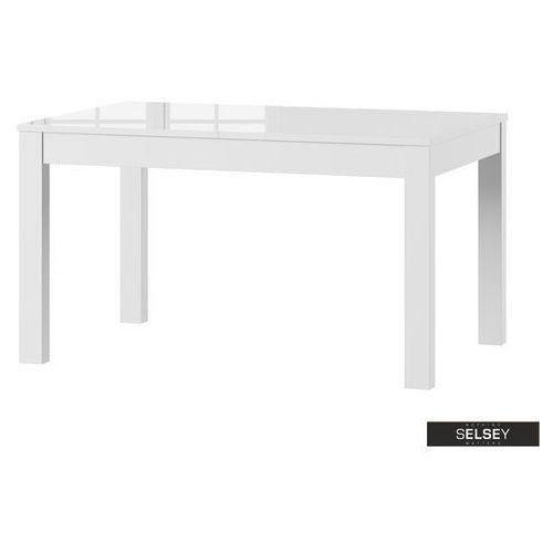 Selsey stół rozkładany ligos 136-210x90 cm biały połysk (5903025335223)