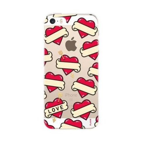 Etui FLAVR iPlate Hearts do Apple iPhone 5/5s/SE Wielokolorowy (28363)