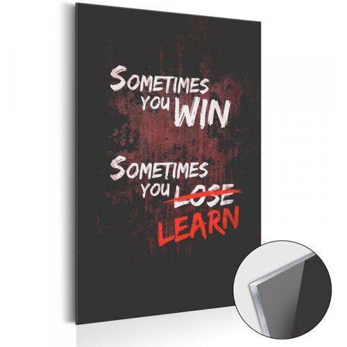 Obraz na szkle akrylowym - life manifesto: winning and learning [glass] marki Artgeist