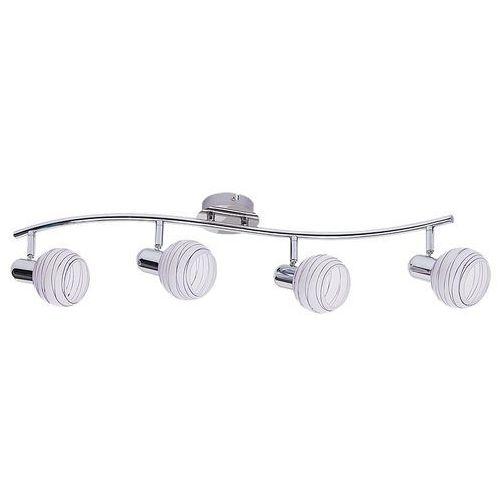 Listwa lampa sufitowa aurel lilac 4x40w e14 chrom/biały/fioletowy 6368 marki Rabalux