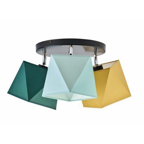Lampa sufitowa plafon BALM abażur diament 3xE27
