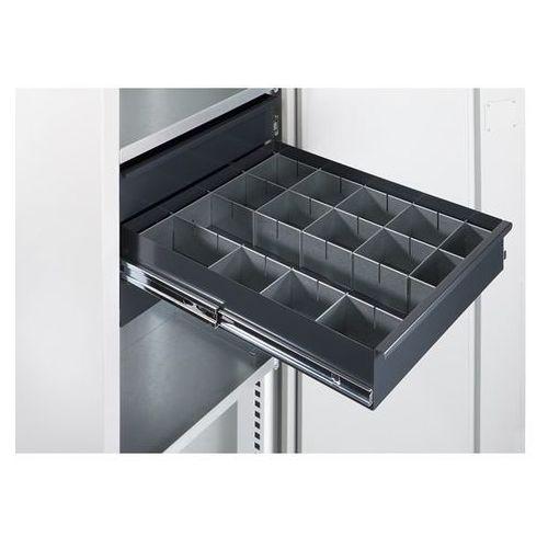 Mba-system Zestaw przegród do szuflad, do szafy na materiały, 14-częściowy. przegrody blasz