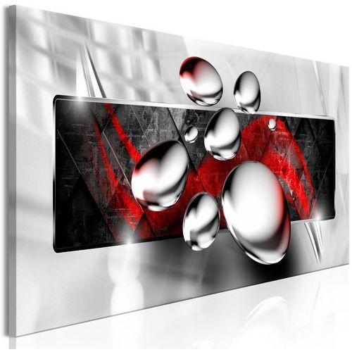 Obraz - Błyszczące kamienie (1-częściowy) wąski czerwony