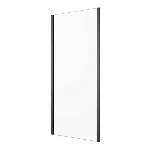 Goodhome Ścianka prysznicowa beloya 90 cm czarna/transparentna