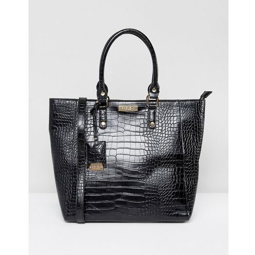 Carvela arlette croc tote bag - black