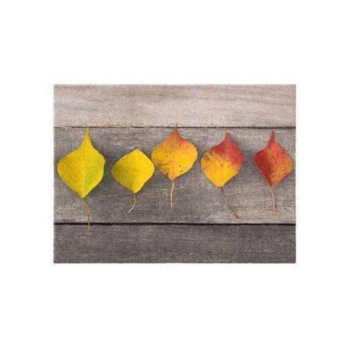 Bonprix Wycieraczka z motywem liści kolorowy