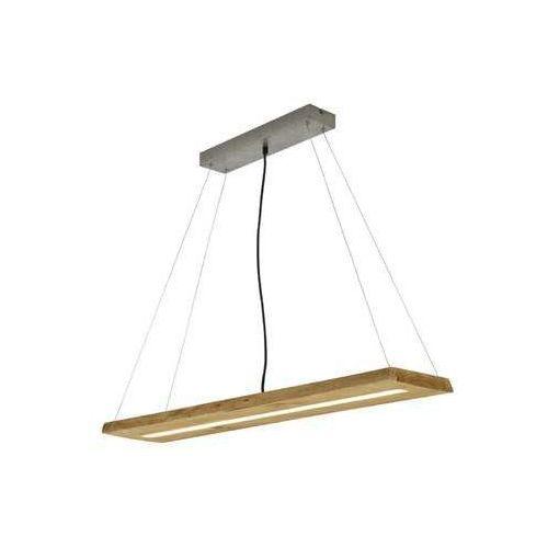 Trio brad 323710130 lampa wisząca zwis 1x27w led 3000k drewno naturalne (4017807451191)