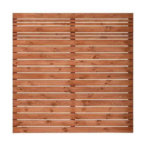 Werth-holz Płot ażurowy 180x180 cm drewniany goteborg wiśnia