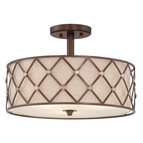 Elstead Lampa sufitowa brown lattice