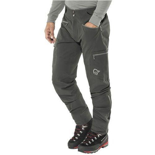 Norrøna trollveggen flex1 spodnie długie mężczyźni czarny l 2018 spodnie softshell