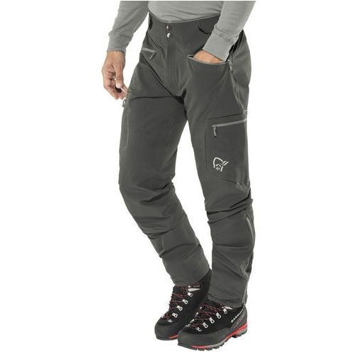 trollveggen flex1 spodnie długie mężczyźni czarny m 2018 spodnie softshell marki Norrøna