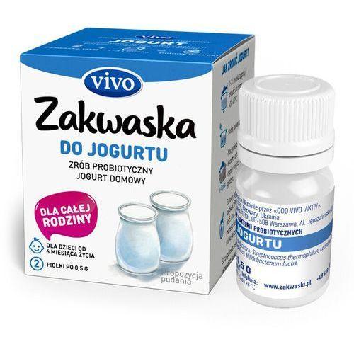Jogurt domowy VIVO żywe kultury bakterii opakowanie 2 x 0,5g ZAKWASKI VIVO, 4820148053807