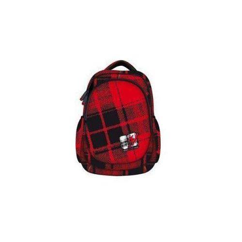 Plecak młodzieżowy MTV 2 czerwono-czarny, kolor czerwony