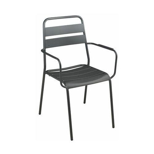 Krzesło ogrodowe MALMO stalowe antracytowe NATERIAL (8424385161675)