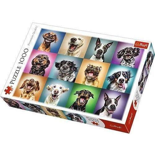 Puzzle Zabawne psie portrety 1000