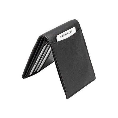 ✅ ultra cienki skórzany portfel slim zabezpieczenie kart rfid czarny - czarny mat marki Koruma®