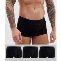 ASOS DESIGN short trunks in black in organic cotton 3 pack multipack saving - Black, 1 rozmiar
