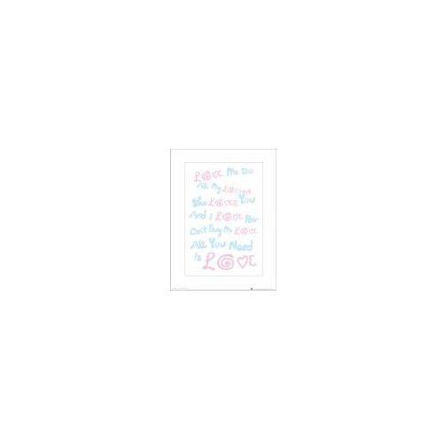 The Beatles All You Need Is Love Lyrics - art print (5028486300655)