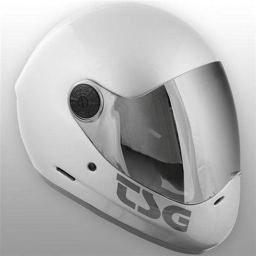 kask TSG - pass solid color (extra transparent visor) silver (334) rozmiar: L