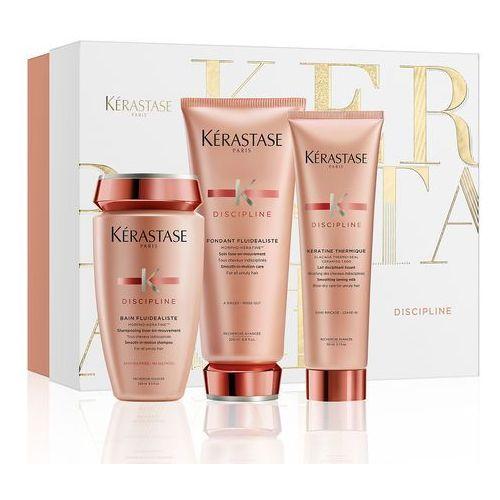 Kerastase fluidealiste   bezsiarczanowy zestaw dyscyplinujący włosy: szampon 250ml + odżywka 200ml + mleczko termiczne 150ml