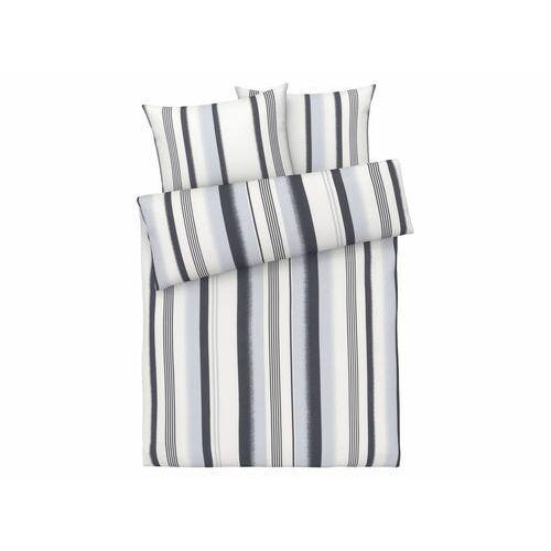 MERADISO® Pościel satynowa z lyocellem (TENCEL™), 220 x 200 cm (W pasy/szary)