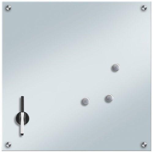 Szklana tablica magnetyczna MEMO, biała + 3 magnesy, 55x55 cm, ZELLER (4003368116808)