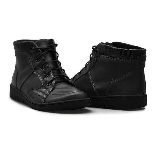Helios Trzewiki damskie 529 Czarne lico, kolor czarny