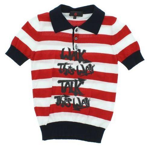 John richmond  polo t-shirt dziecięcy czerwony biały 6 lat
