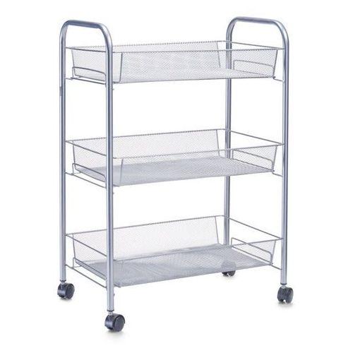 Zeller Wózek łazienkowy, regał na przybory - 3 poziomy, chrom, (4003368177205)