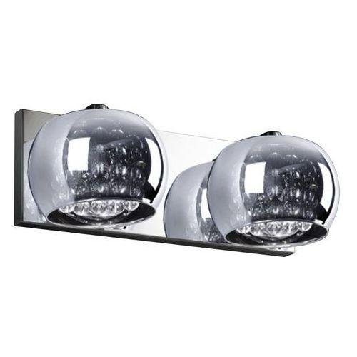 Kinkiet LAMPA ścienna CRYSTAL W0076-02A-B5FZ Zumaline szklana OPRAWA moonlight glamour z kryształkami crystal chrom