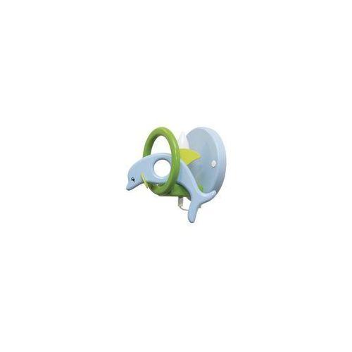 Kinkiet dziecięcy delfin zielony/ jasny niebieski 1xe14/40w marki Prezent