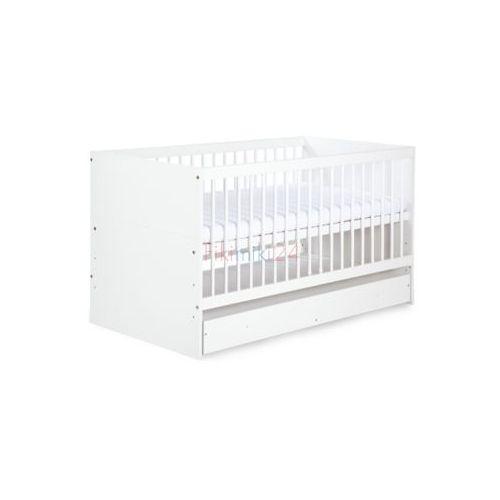 Klupś łóżeczko bartek ii biały z pojemnikiem 140x70