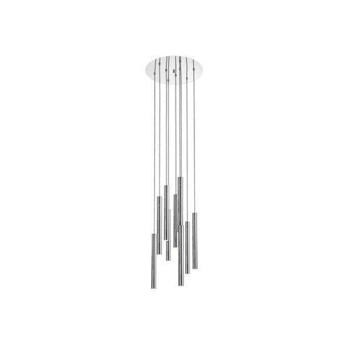 Zumaline Lampa wisząca loya p0461-09c-b5f4 metalowa oprawa kaskada led 45w zwis tuby sople chrom
