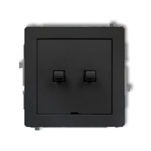 DECO Łącznik świecznikowy w stylu amerykańskim czarny mat 12DWPUS-2