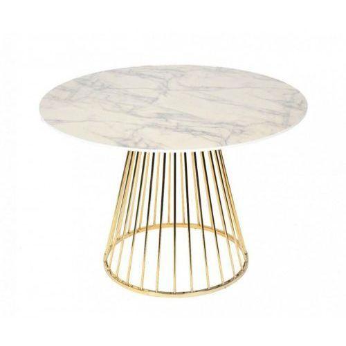 Stół GLAM MARBLE - MDF, złota podstawa, FDT7012 (12647346)
