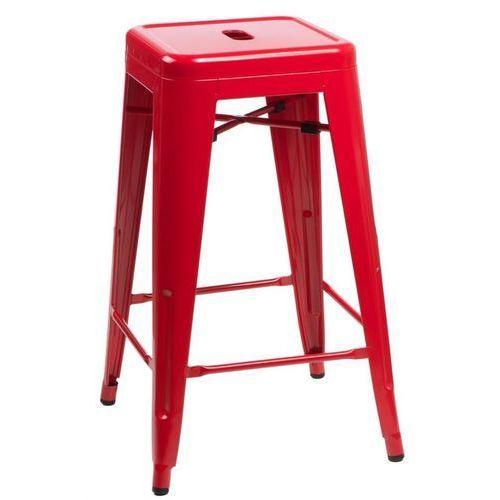 Stołek barowy Paris 66cm inspirowany Tolix - czerwone