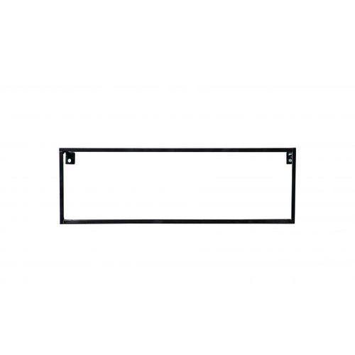 Półka ścienna MEERT metalowa czarna