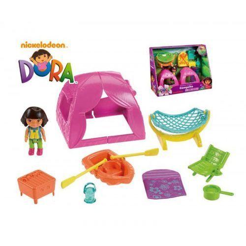 Fisher Price - Dora Na Obozie KEMPING Obóz KAJAK Namiot z kategorii Pozostałe lalki i akcesoria