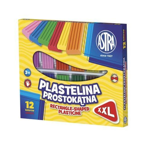Astra papiernicze Plastelina prostokątna xxl 12 kolorów (303117001) - .