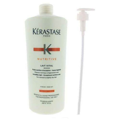 Kerastase lait vital | zestaw: mleczko proteinowe do włosów normalnych i suchych 1000ml + pompka marki Kérastase