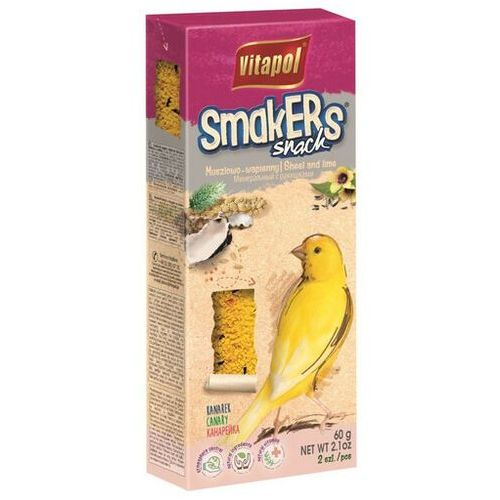 Vitapol Smakers dla kanarka - wapno-muszle 2szt [2512] (5904479025128)